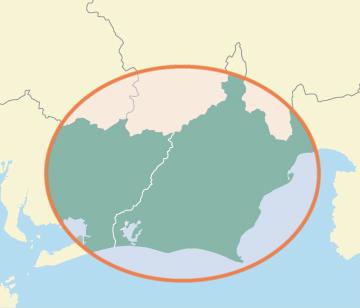 大東紙業エリアマップ
